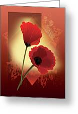 Contemporary Wild Poppies Greeting Card