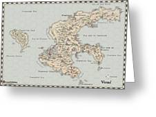 Continent Of Verme Greeting Card