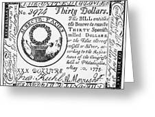 Continental Banknote, 1775 Greeting Card