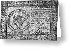 Continental Currency, 1777 Greeting Card