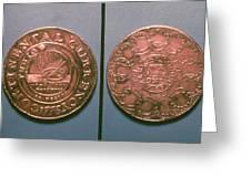 Continental Dollar, 1776 Greeting Card
