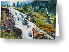 Continental Falls Greeting Card