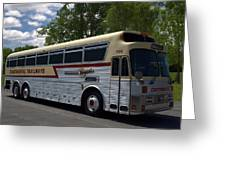 Continental Trailways Bus  Greeting Card
