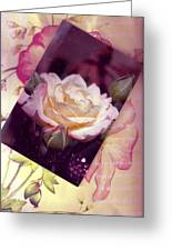 Continuation From Print To Photo Of White Rose Greeting Card