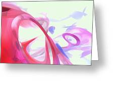 Contortion Pastel Abstract  Greeting Card