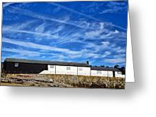 Contrails Over The Cobb Greeting Card