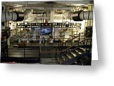 Control Board Engine Room Queen Mary Ocean Liner Long Beach Ca Greeting Card