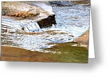 Converging Stream Water Greeting Card