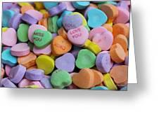 Conversational Hearts Greeting Card