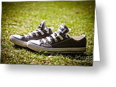 Converse Pumps Greeting Card by Jane Rix