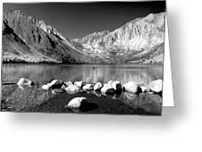 Convict Lake Pano In Black And White Greeting Card
