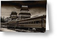 Conway Rail Station Greeting Card