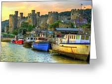 Conwy Castle And Harbour Greeting Card