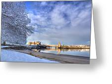 Conwy Castle Snow Greeting Card