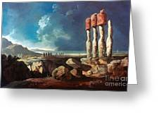 Cook: Easter Island, 1774 Greeting Card
