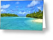 Cook Islands Lagoon Greeting Card