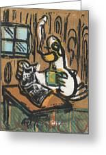 Cooked Goose Greeting Card by Mathew Luebbert