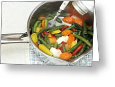 Cooked Mixed Vegetables Greeting Card