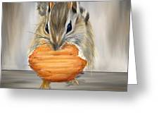 Cookie Time- Squirrel Eating A Cookie Greeting Card