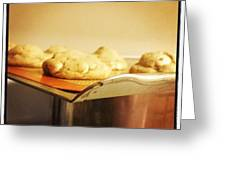 Cookies On The Edge Greeting Card by Lexa Newman