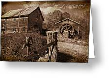 Cook's Old Mill 1857 Greeting Card