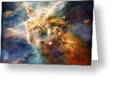 Cool Carina Nebula Pillar 4 Greeting Card by Jennifer Rondinelli Reilly - Fine Art Photography