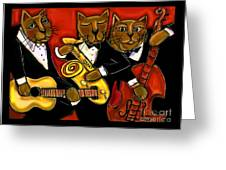Cool Jazz Cats Greeting Card