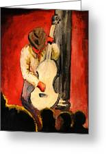 Cool Jazz Served Hot Greeting Card