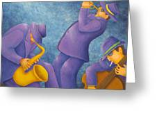 Cool Jazz Trio Greeting Card