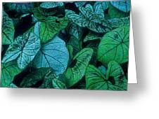Cool Leafy Green Greeting Card
