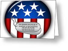 Cool National Guard Insignia Greeting Card