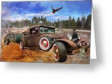 Cool Rusty Classic Ride Greeting Card