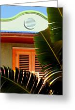 Cool Tropics Greeting Card by Karen Wiles