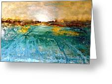 Cool Water Greeting Card by Michelle Dommer