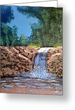 Cool Waterfall Greeting Card