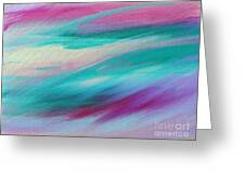 Cool Waves - Abstract - Digital Painting Greeting Card