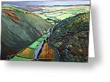 Coombe Valley Gate, Exmoor, 2009 Acrylic On Canvas Greeting Card