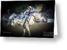 Cooper Rodeo Bronc Rider Greeting Card