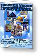 Cooper Young Festival Poster 2008 Greeting Card
