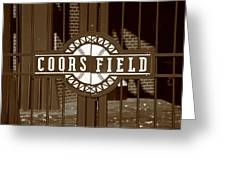 Coors Field - Colorado Rockies 15 Greeting Card by Frank Romeo
