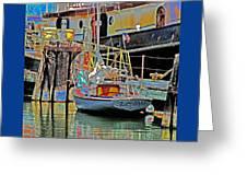 Coos Bay At Berth Greeting Card