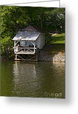 Coosa River Fishing Hut   #9548 Greeting Card