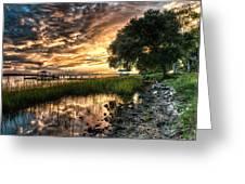 Coosaw Plantation Sunset Greeting Card