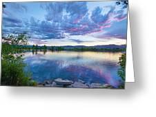 Coot Lake View Greeting Card
