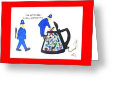 Cop-ketteling Crowd Controll Greeting Card