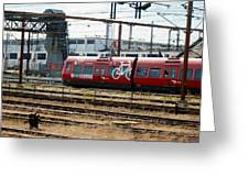 Copenhagen Commuter Train Greeting Card