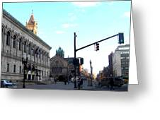 Copley Square - Old South Church Greeting Card