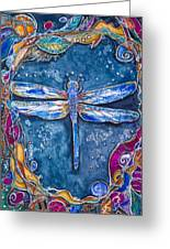 Copper Dragonfly Greeting Card