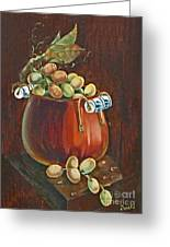 Copper Kettle Of Grapes Greeting Card