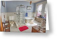 Copper King Victorian Bathroom - Butte Montana Greeting Card